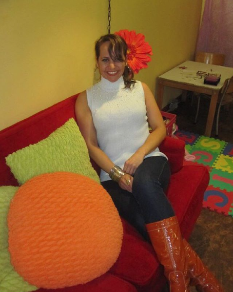 Throwback to chillin in orange boots at RareFunk in Kitchener