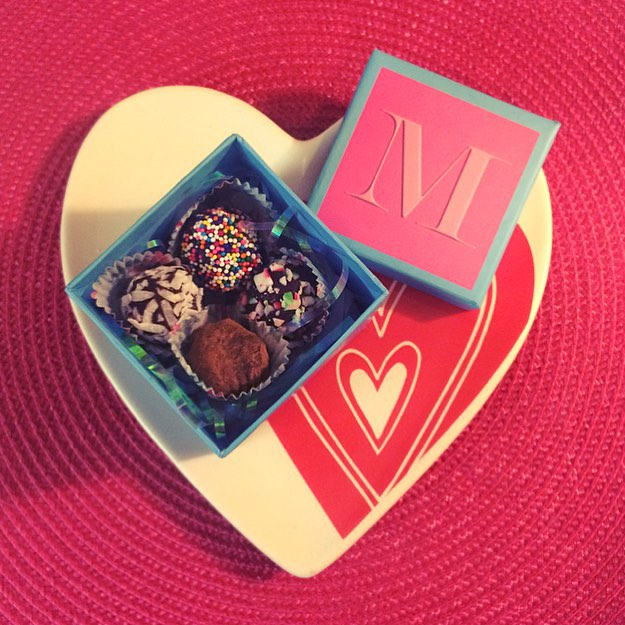Homemade truffles from my love, Valerie xo