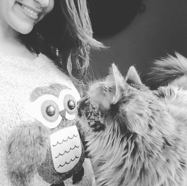An adorable owl sweater from my TGT sweetling, Debbie