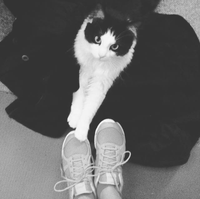 Chloe blessing my shoes