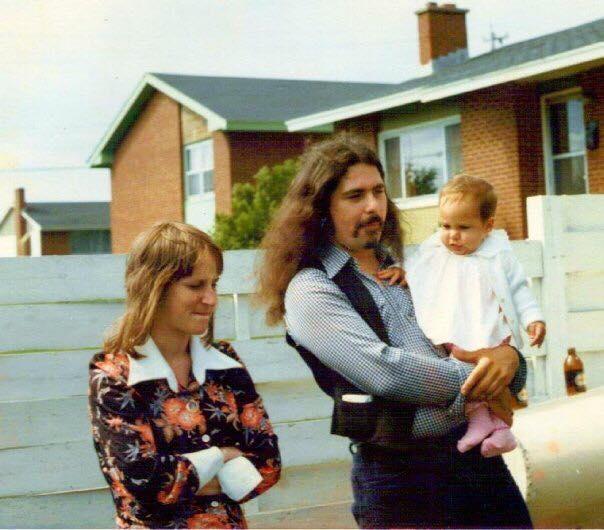 Mom, Dad, me circa 1976