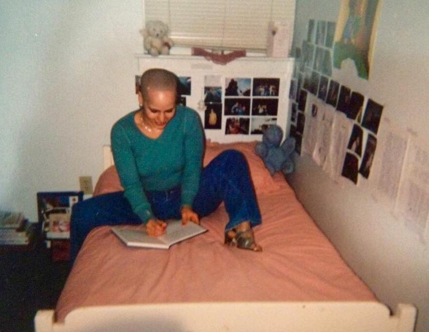 Throwback to bald me (1995/6)S. Shaved my head for years.