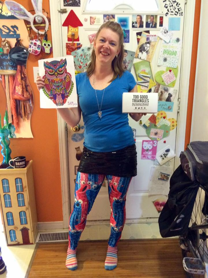 Yip yip leggings on my TGT customer, Sherri!