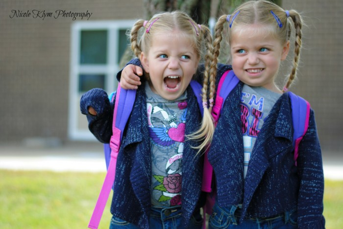 Twins Back to School Photo
