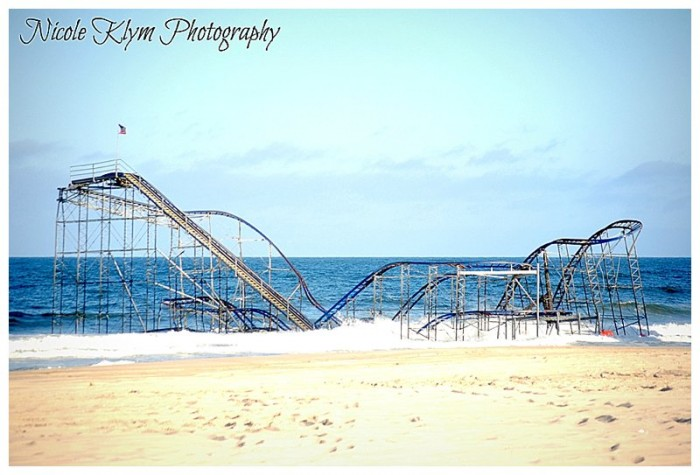 Seaside Heights After Sandy - Jet Star Roller Coaster