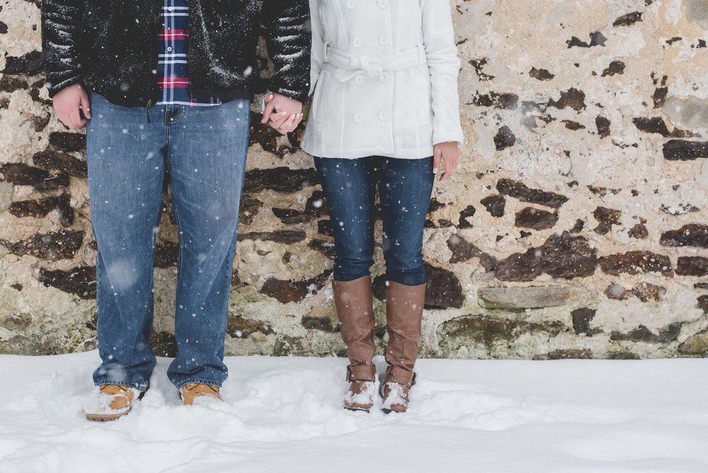 Winter Batsto Village Engagement Photos | Nicole Klym Photography | Engagement Photos in the Snow