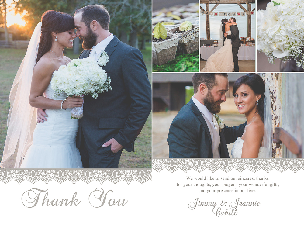 Wedding Thank You Card Design Options Nicole Klym Photography