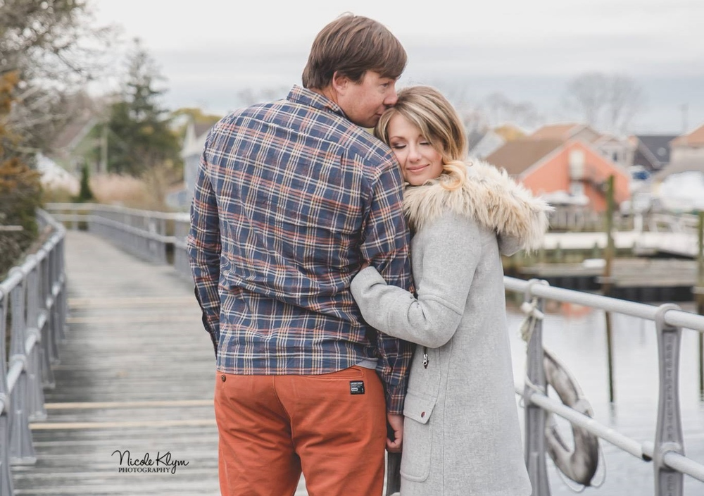 These two chose a local seaport for their e-session to go along with their upcoming yacht club wedding venue.
