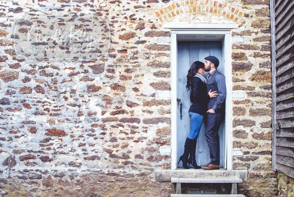 These two chose a location for their engagement photos that was so close to their venue, that we were able to recreate some of these images on their wedding day too!