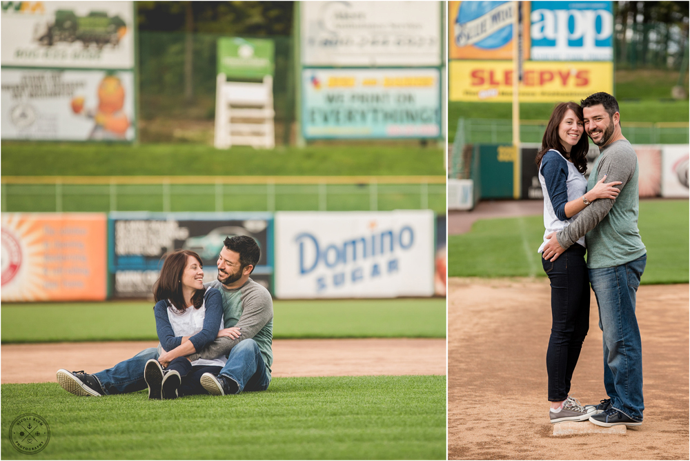 Baseball Themed Engagement Session at Lakewood BlueClaws Stadium in Lakewood, NJ