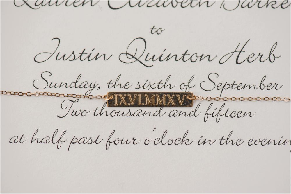 Wedding invitation at Scotland Run Golf Club Wedding in Williamstown, NJ