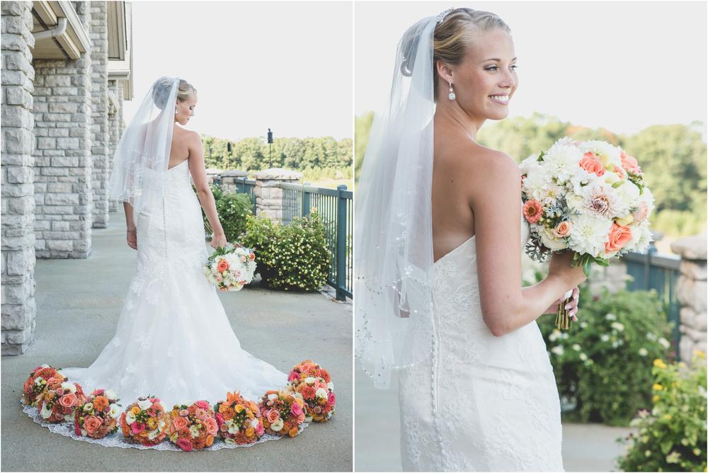 Bride and Florals by Triple Oaks Nursery at Scotland Run Golf Club Wedding in Williamstown, NJ