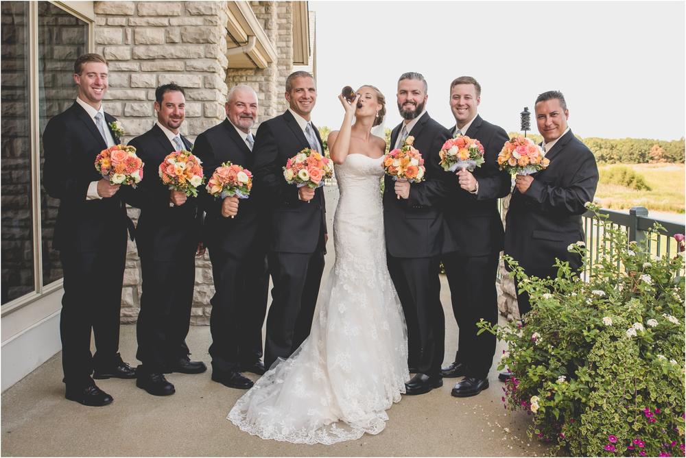 Bride and Groomsmen at Scotland Run Golf Club Wedding in Williamstown, NJ