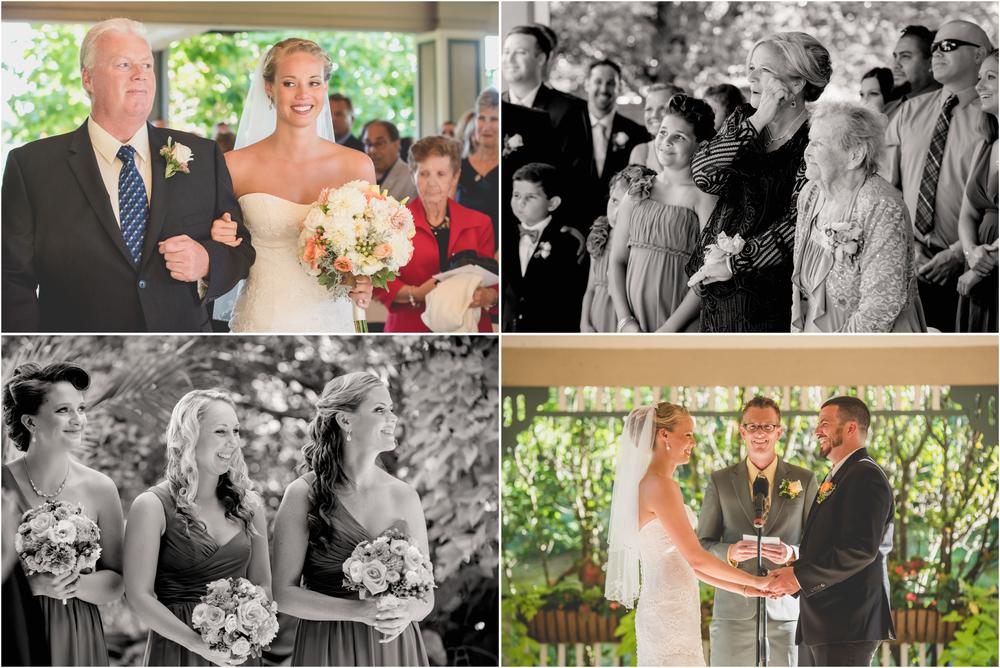 Wedding Ceremony at Scotland Run Golf Club Wedding in Williamstown, NJ