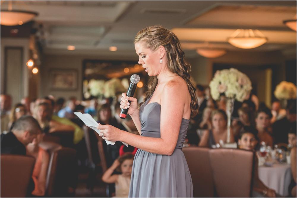 Bridesmaid Toast at Scotland Run Golf Club Wedding in Williamstown, NJ