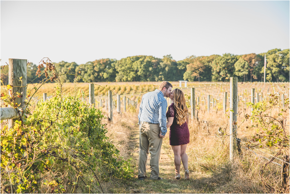 Fall Engagement Photos at Laurita Winery in New Egypt, NJ
