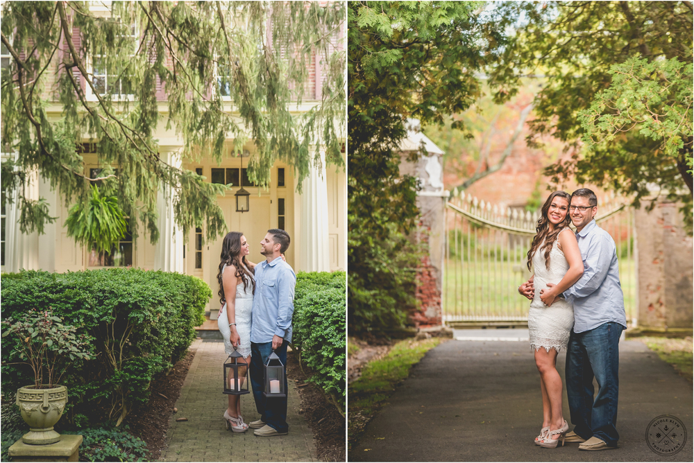Fall Smithville Mansion Engagement Photos in Mt. Holly, NJ