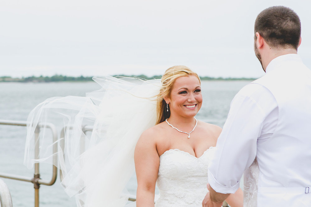 Barnegat Light Bride and Groom First Look