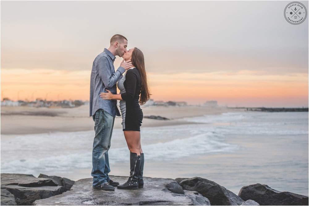Asbury Park Beach Engagement Photos