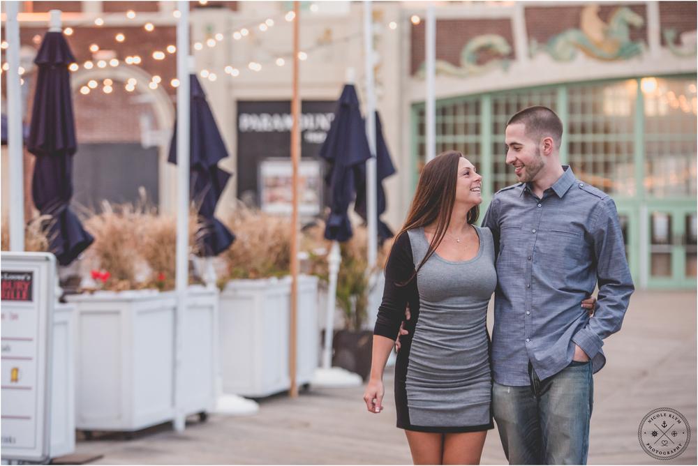 Asbury Park Boardwalk Engagement Photos