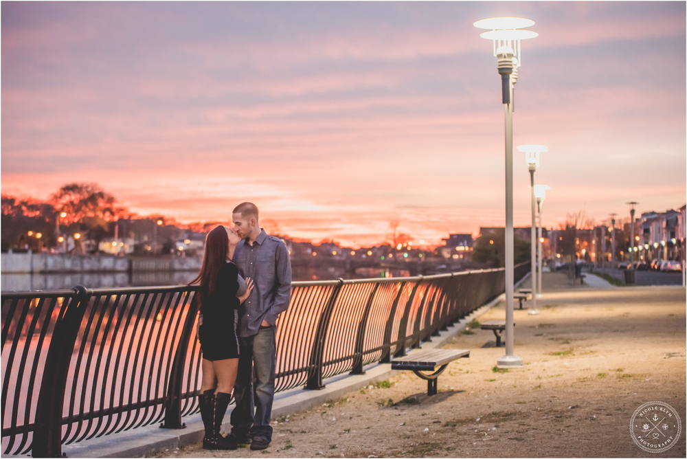 Asbury Park Boardwalk Engagement Photos at Sunset