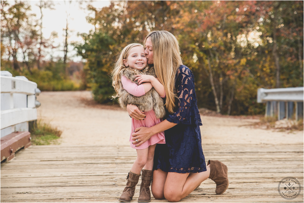 Colorful Fall Family Photo Session at Double Trouble State Park NJ