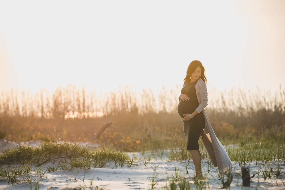 Holgate, NJ Sunset Maternity Photos