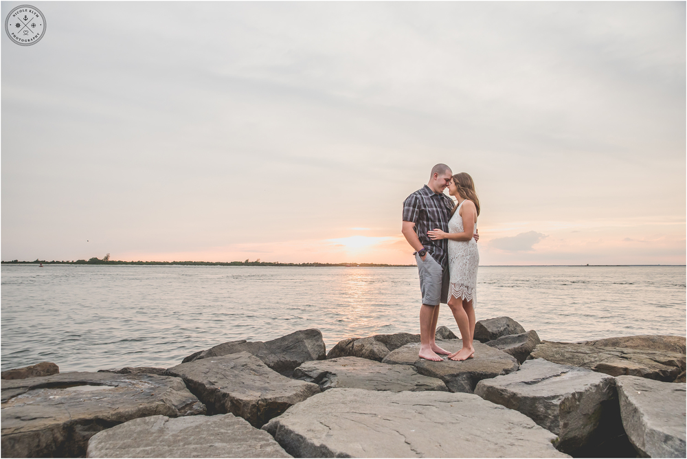 Barnegat Lighthouse, LBI Engagement Session by Nicole Klym Photography