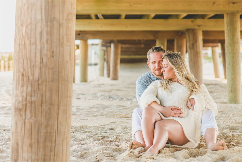 Belmar, NJ Beach Maternity Session by Nicole Klym Photography
