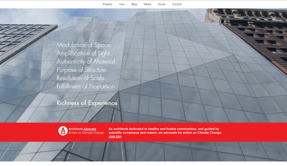 """ARCHITECTS ADVOCATE WEBSITE LAUNCH  """"On September 1st 'Architects Advocate' will publicly launch. As architects dedicated to healthy and livable communities, and guided by scientific consensus and reason, we Advocate for action on Climate Change."""""""