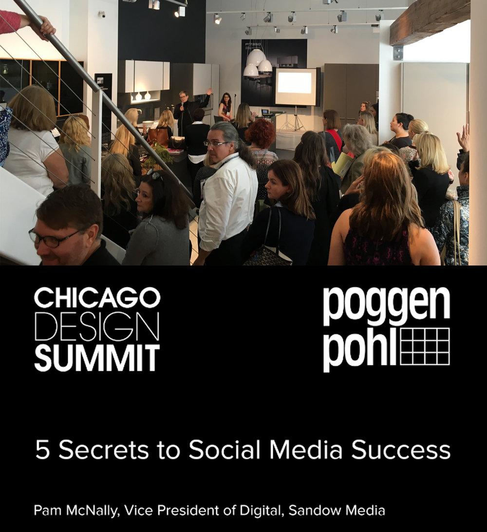 5 SECRETS TO SOCIAL MEDIA SUCCESS  SLH attends  Chicago Design Summit  seminars including social media strategies.