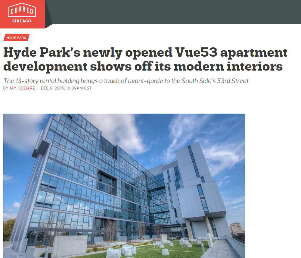 VUE53 - CURBED CHICAGO   Hyde Park's newly opened  Vue53  apartment development shows off its modern interiors.