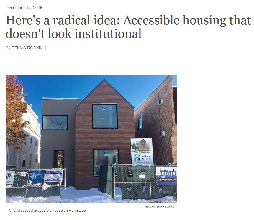 HERMITAGE IN THE SPOTLIGHT Here's a radical idea: Accessible housing that doesn't look institutional