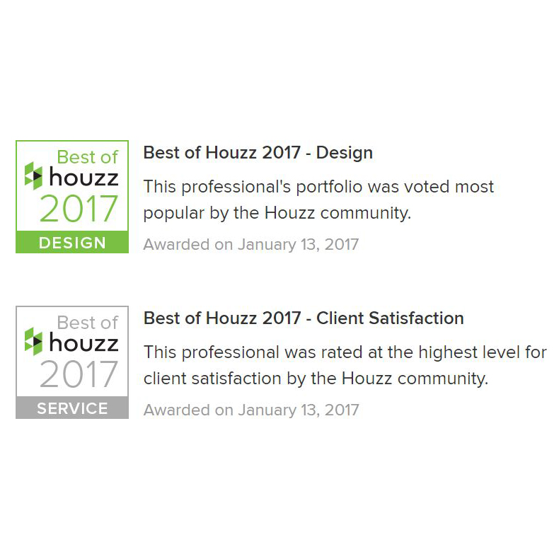 HOUZZ 2017 AWARDS  ANNOUNCED!  SLH awarded  Best of Design  for their celebrated portfolio and awarded  Best of Service  for highest level of client satisfaction.