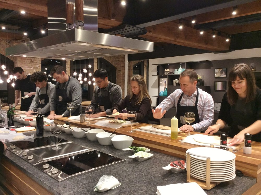 EGGERSMANN PIZZA NIGHT  SLH crew enjoys a night of creating pizza at the  Eggersmann showroom .