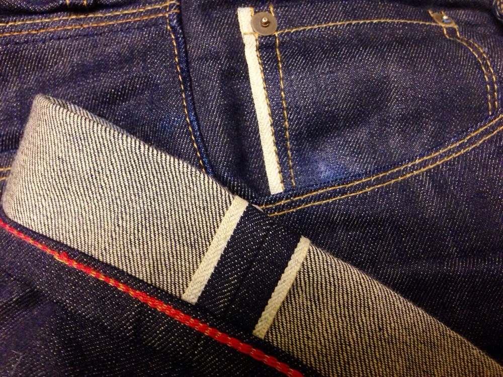 our trademark red chainstitch hem + natural selvage id