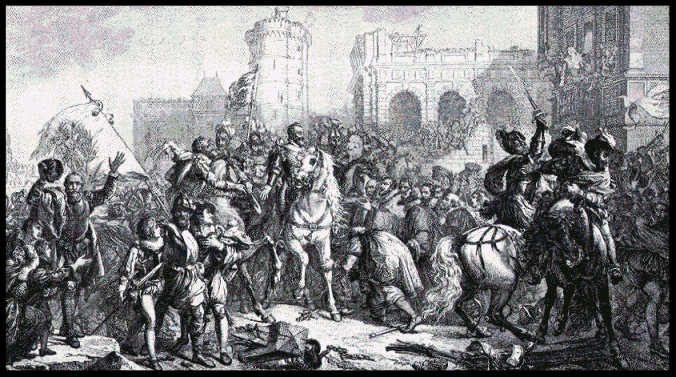 Entry of Henry IV into Paris.