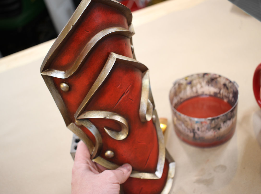 Armor built using 6mm HD-Foam and 15mm Triangle Dowels