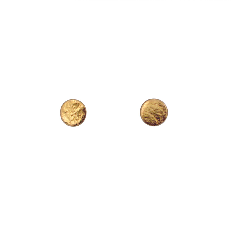 Gold Small Stud Earrings — Kohatu + Petros Jewellery d4cf60bc2