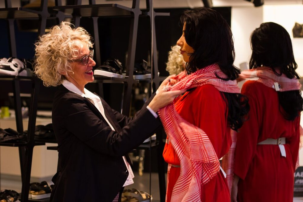 Working with personal stylist Suzanne from Coathanger