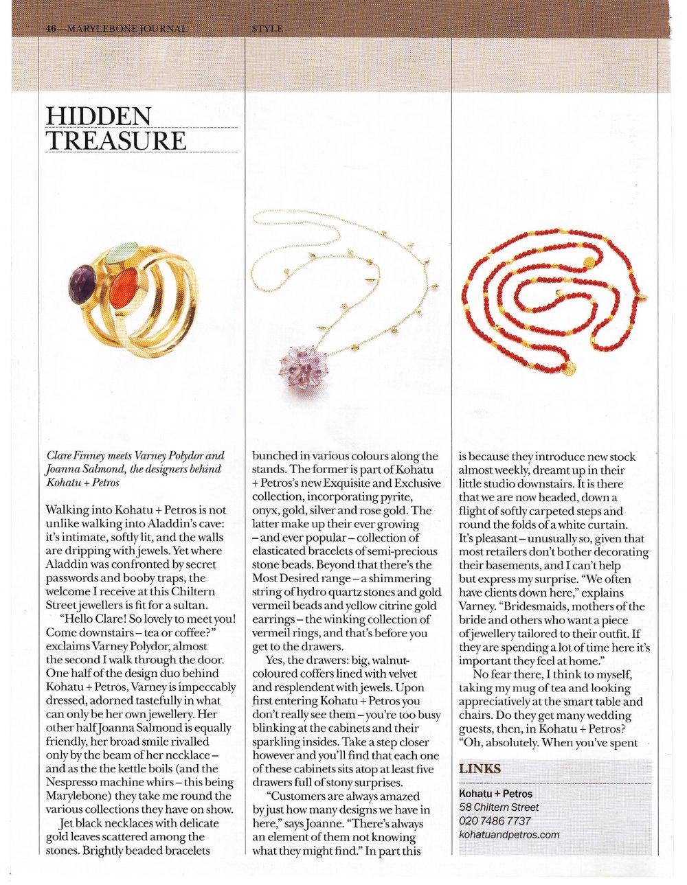 Marylebone Journal Feature
