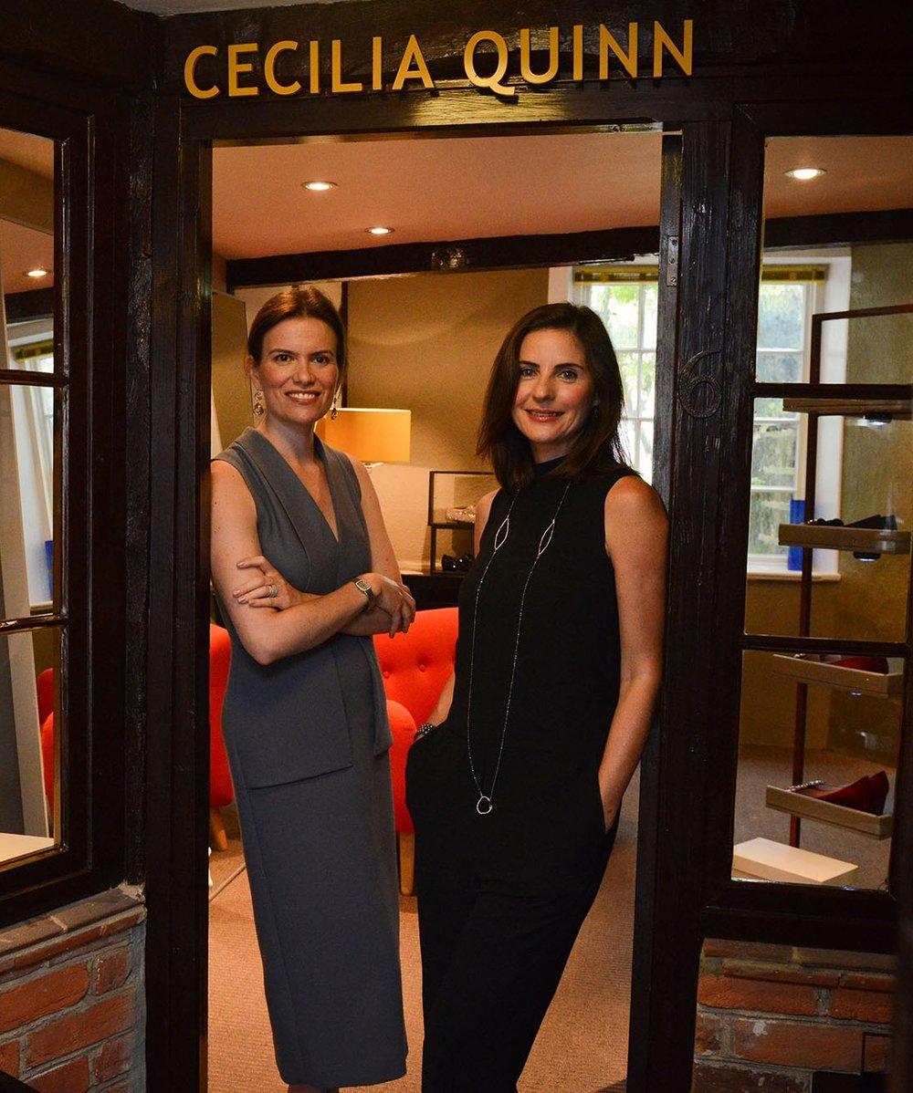 Collaboration with Cecilia Quinn Shoe Boutique  Owners, Claudia de Biasi and Michele Langenbrinck
