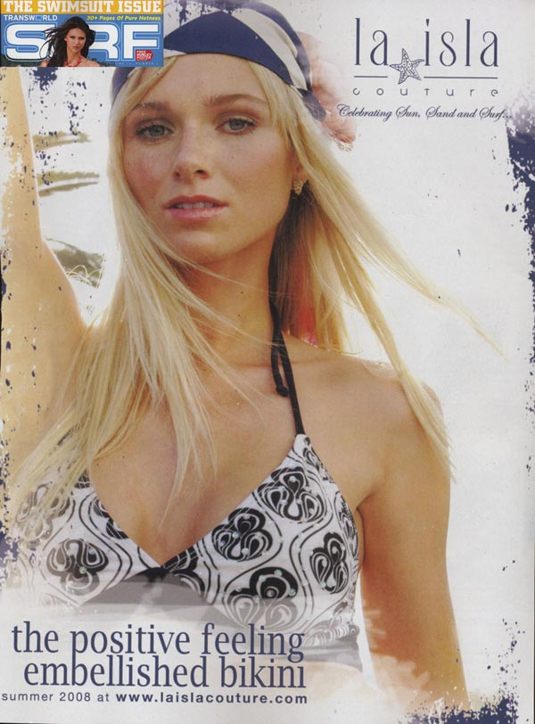 La Isla. Swirl print as seen in Surf Magazine.