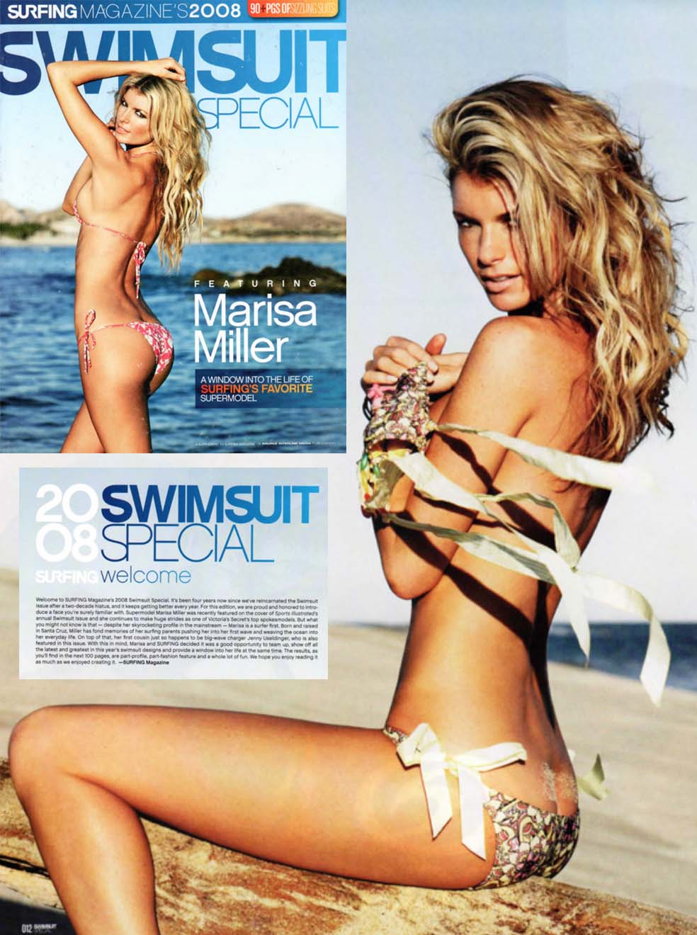 La Isla. Holiday print as seen in Surfing Magazine Swimsuit Special.