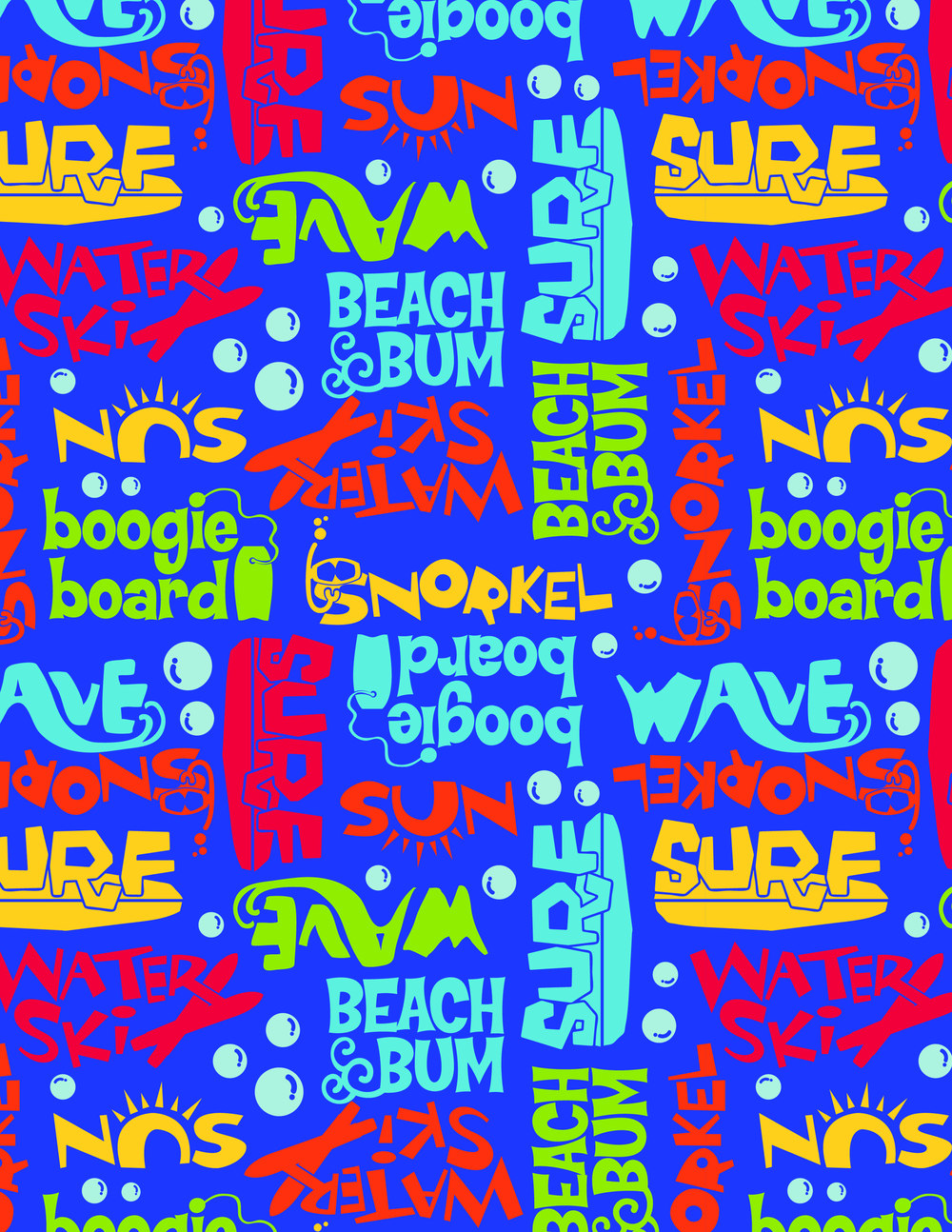 Boy's Beach Bum Board Short Print.