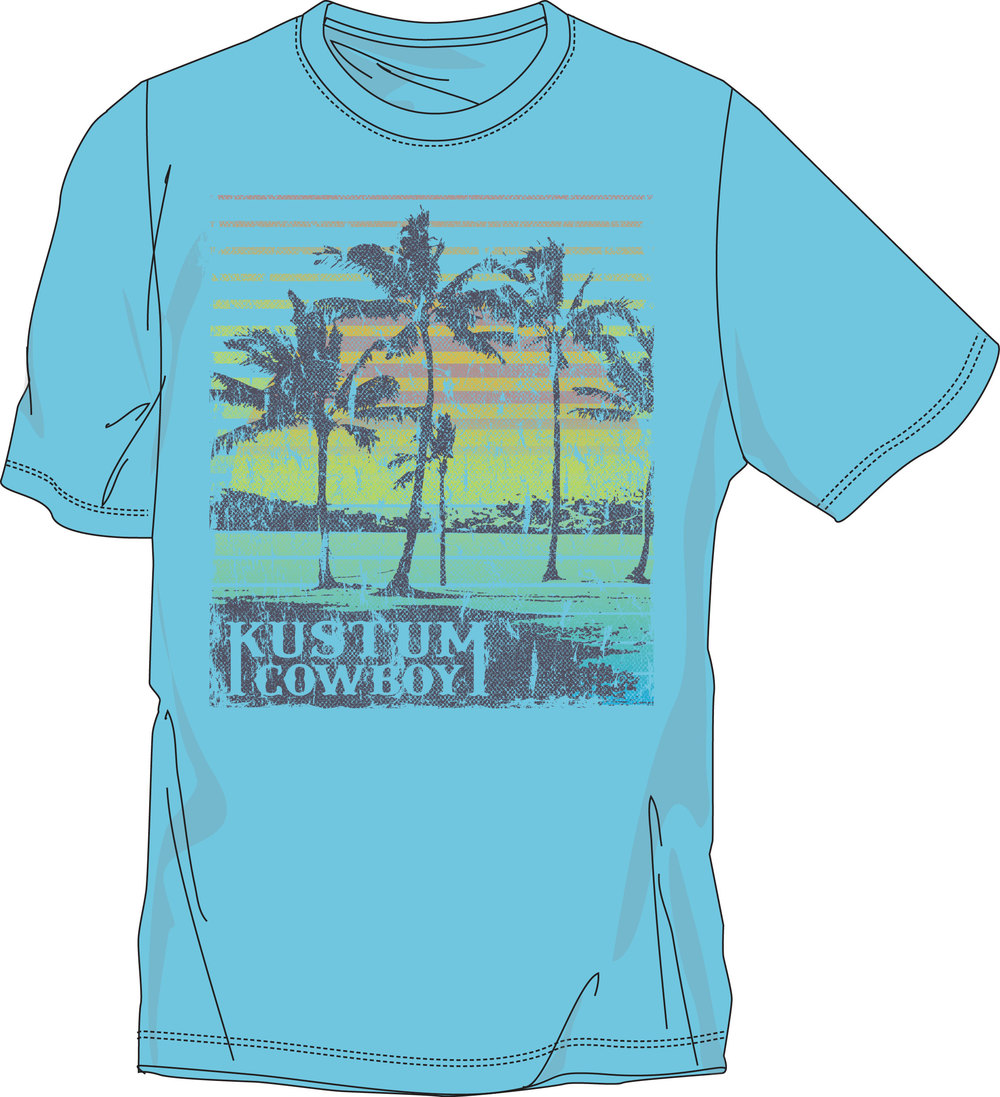 Kustom Cowboy. At the Beach Tee.