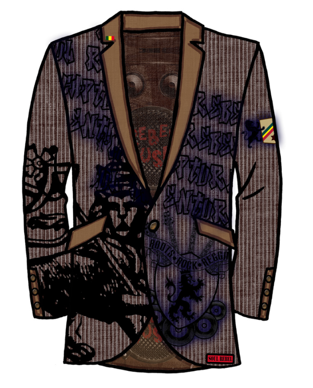 Catch A Fire Clothing. Rasta Blazer.
