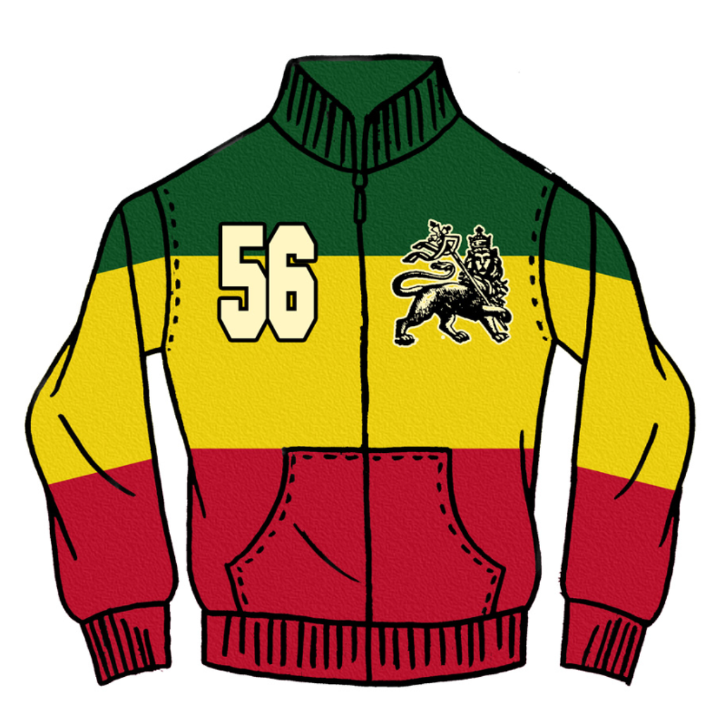 Catch A Fire Clothing. Rasta Jacket.