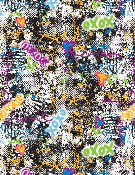 XOXO. Graffiti Print.