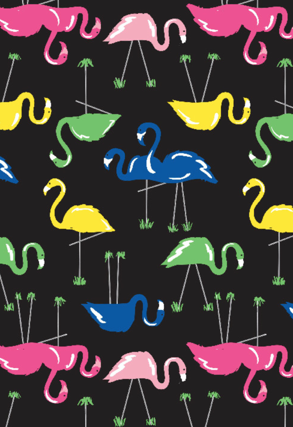 Richard Leeds International. Flamingo Pajama Print.